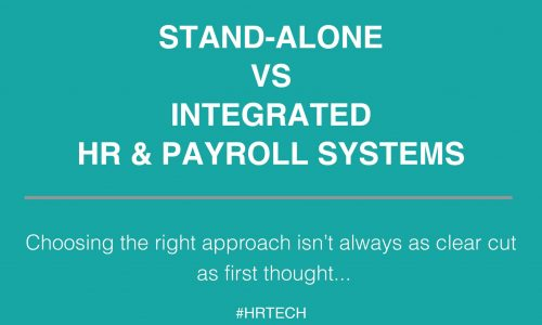 Stand alone vs integrated HR & Payroll systems