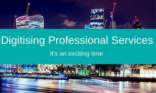 Digitising professional services